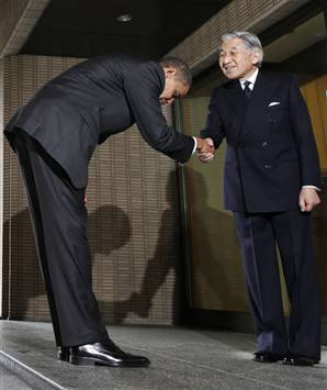 Obama's Bow to Akihito