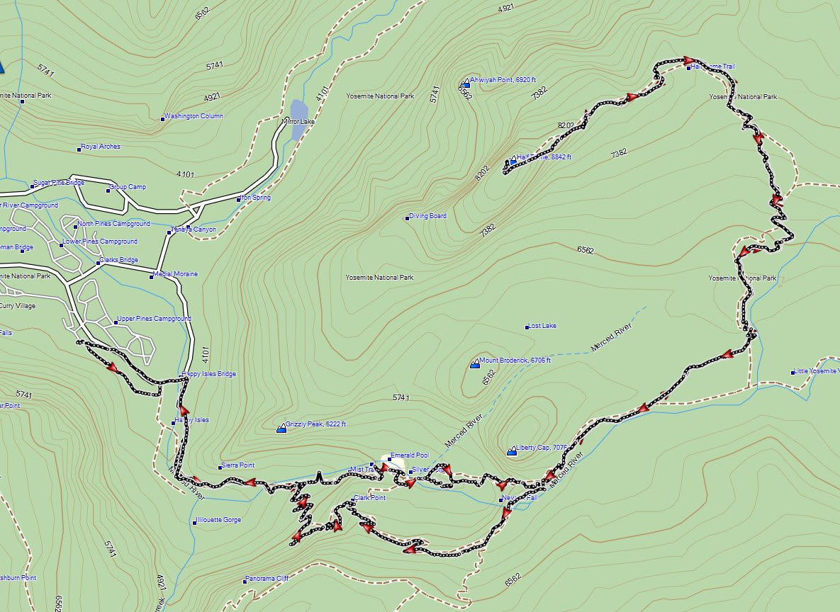 yosemite half dome trail map with Hiking Half Dome Conquered on ShowTopic G294217 I1496 K4606726 Maps of outlying islands to help in exploring hiking Hong Kong besides Hiking Half Dome Conquered moreover Upper Yosemite Falls furthermore 4924826215 in addition YosemiteMistTrail.