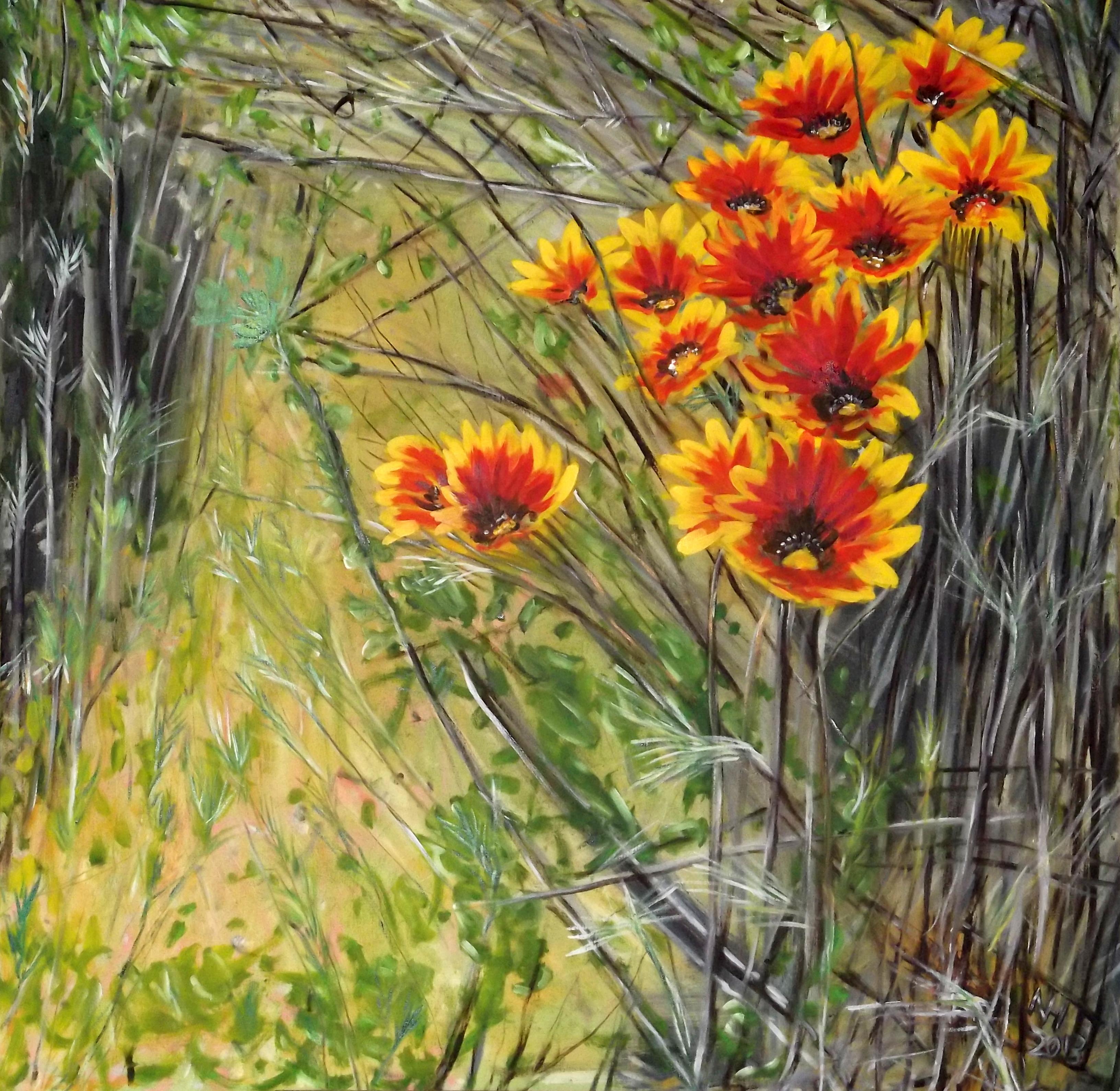 Painting Wild Daisies Norbert Haupt