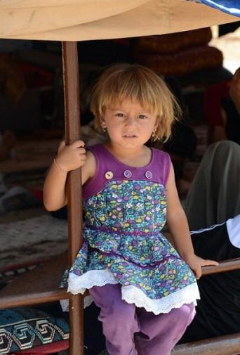 Yazidi Girl Poses