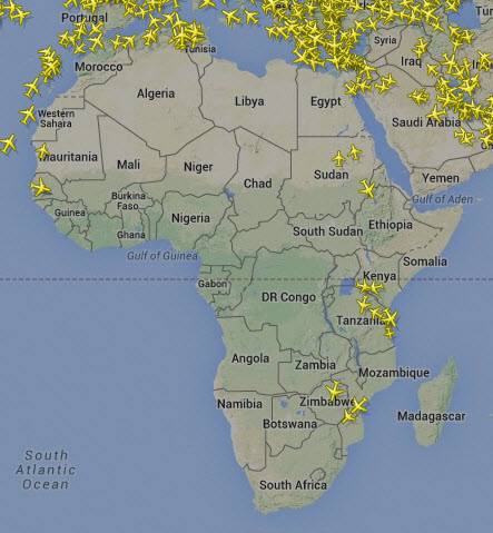 planes Africa