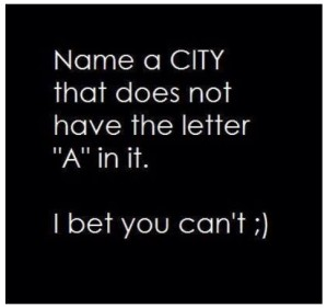 City without A