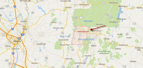 Map of Williamstown